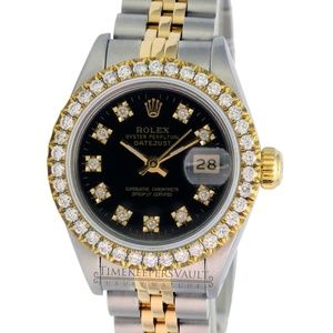 Rolex Lady Datejust Black Diamond Dial 26mm Watch